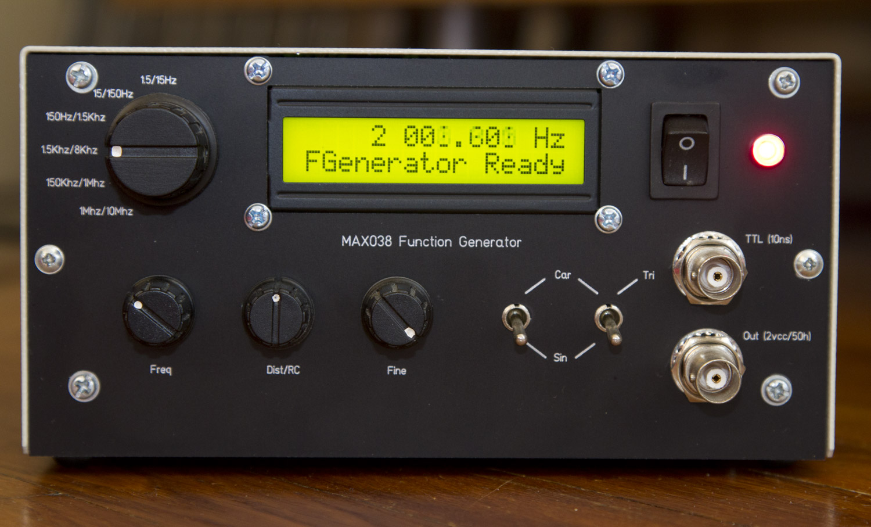 Max038 function lab generator
