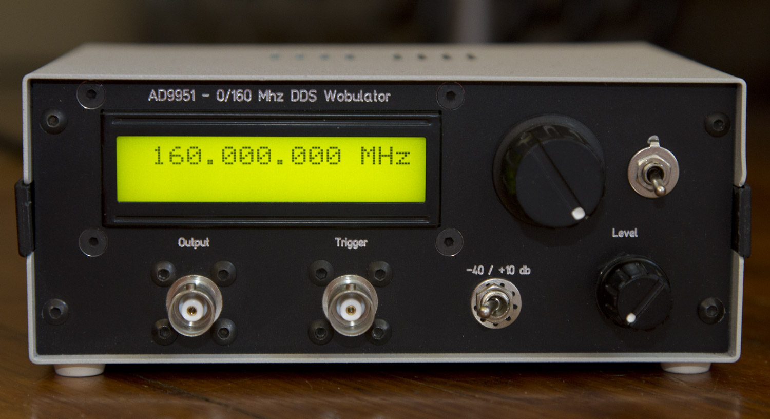 DDS AD9951 - 0/160 Mhz Wobulator [Update 11/07]
