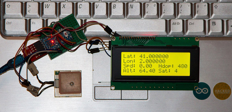 TinyGPS lib and 4x20 LCD i2c Screen