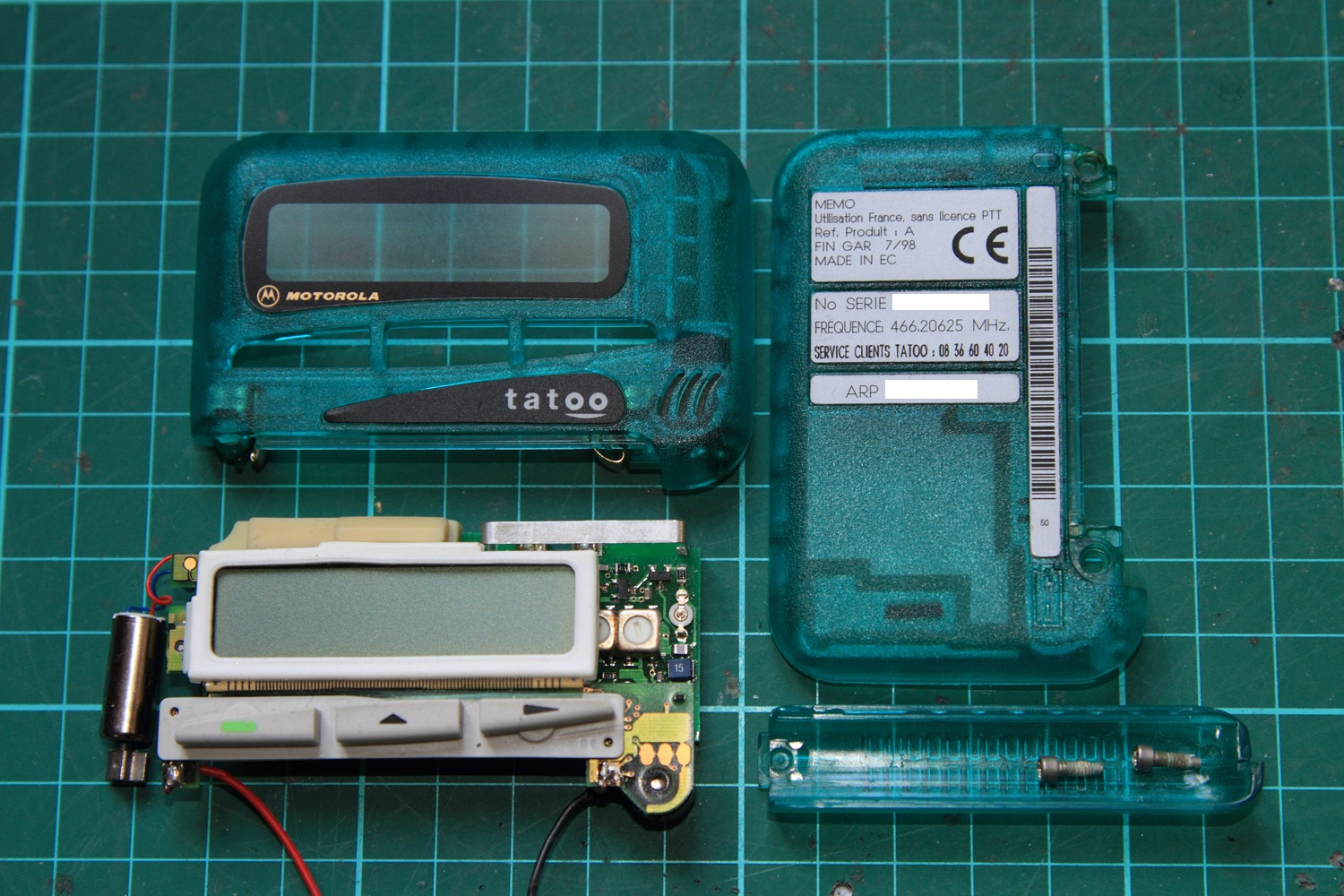 Retro engineering on a pager, Tatoo Hack