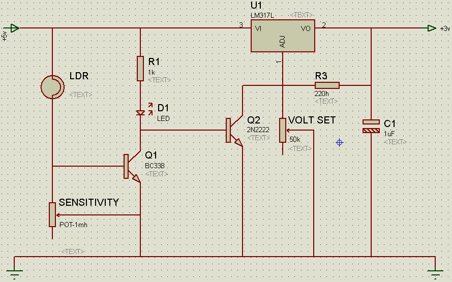 Powering automatically a FM-Radio with a simply ambient light switching system