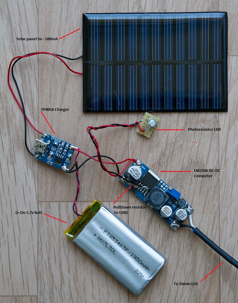 Revive an old garden lamp with a solar panel