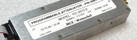 Atténuateur programmable MCE-Weinschel 101-2072-2