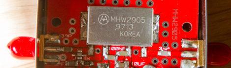 PA UHF a base de MHW2905
